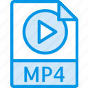 data, document, extension, file, mp4 icon