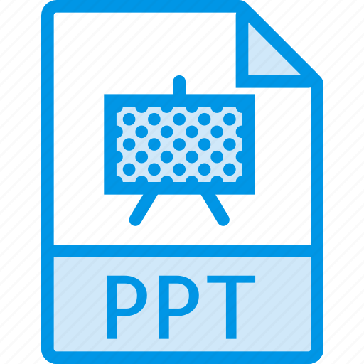 data, document, extension, file, ppt icon