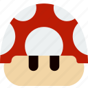 game, gaming, mario, mushroom, play icon