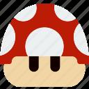 gaming, game, play, mushroom, mario