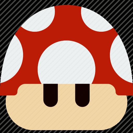 game, gaming, mario, mushroom, play icon