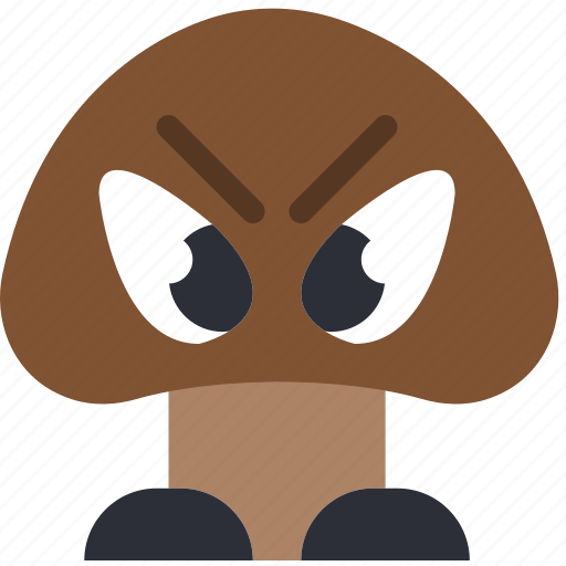 game, gaming, goomba, monster, play icon
