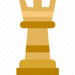 chess, game, gaming, play, rook icon
