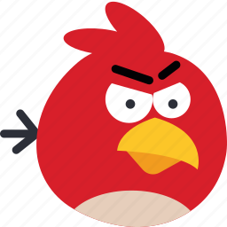 angry, bird, game, gaming, play, red icon