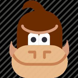 donkey, game, gaming, kong, monkey, play icon