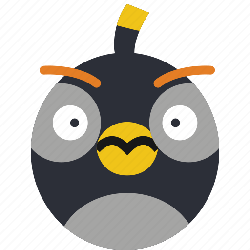angry, bird, bomb, game, gaming, play icon