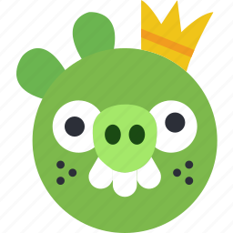 angry, bird, game, gaming, king, pig, play icon