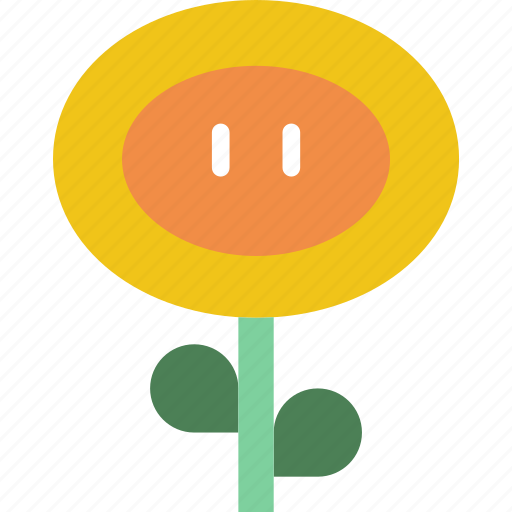 fireflower, game, gaming, mario, play, projectile icon