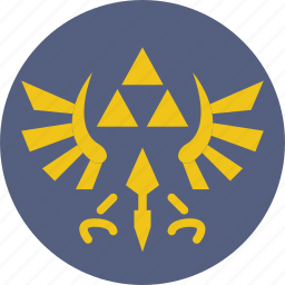 game, gaming, play, triforce, zelda icon