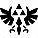 game, gaming, nintendo, play, triforce, zelda icon