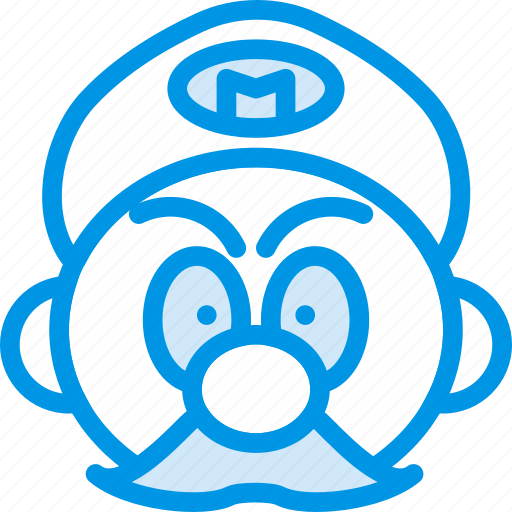 game, gaming, mario, moustache, play, plumber icon