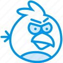 angry, birds, game, gaming, play, red icon
