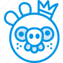 angry, birds, game, gaming, king, pig, play icon