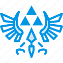 game, gaming, nintendo, play, triforce, zelda icon