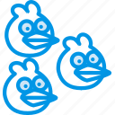 angry, birds, blues, game, gaming, play icon
