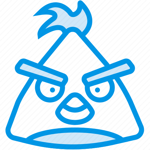 angry, birds, chuck, game, gaming, play icon