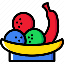 basket, cooking, food, fruit, gastronomy icon