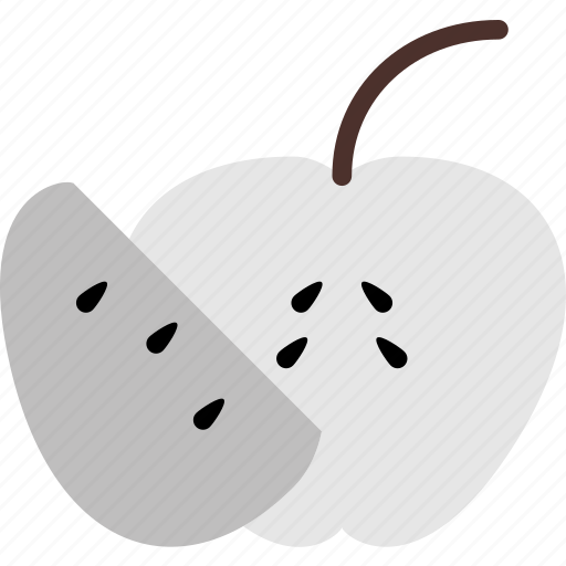 Food, gastronomy, cooking, apple, sliced icon