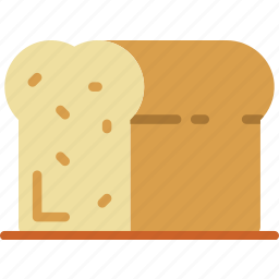 baked, bread, cooking, food, gastronomy icon