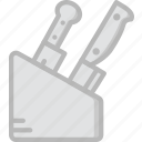 cooking, food, gastronomy, knives icon