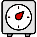 cooking, food, gastronomy, kitchen, timer icon