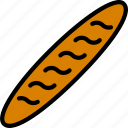 baguette, cooking, food, gastronomy icon