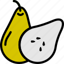 cooking, food, gastronomy, pear, sliced icon