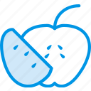 apple, cooking, food, gastronomy, sliced icon