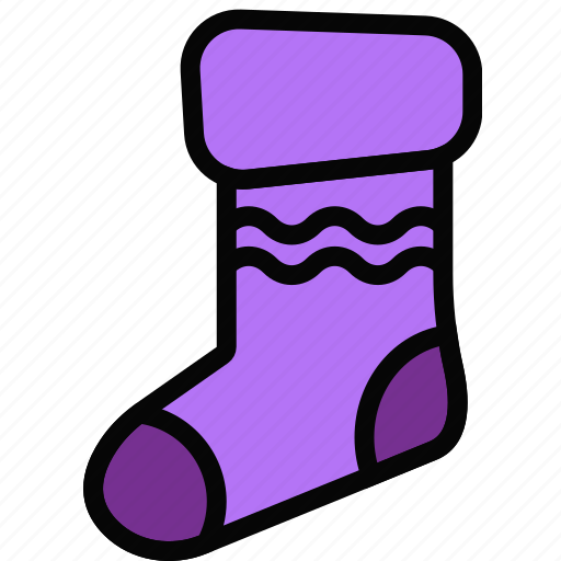 christmas, holidays, relax, sock, visit icon