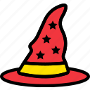 hat, holidays, relax, visit, wizard icon