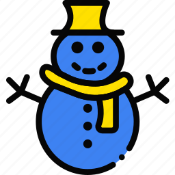 holidays, relax, snowman, visit icon