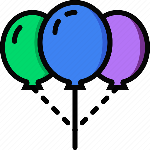 balloons, holidays, relax, visit icon