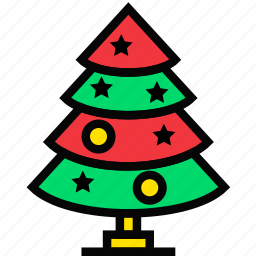 christmas, holidays, relax, tree, visit icon