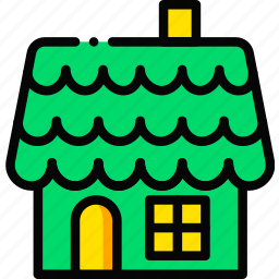 gingerbread, holidays, house, relax, visit icon
