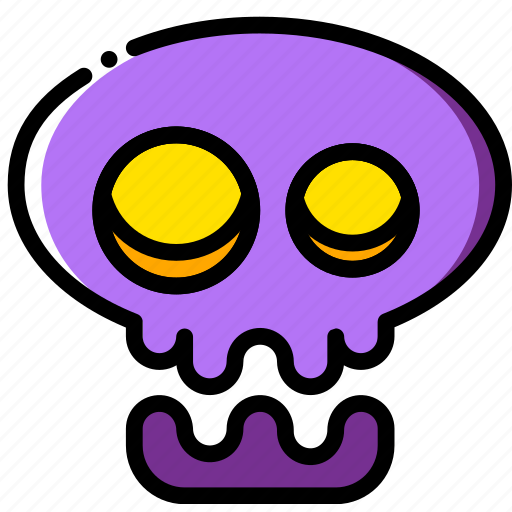 holidays, relax, skull, visit icon