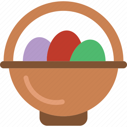 basket, celebration, easter, eggs, festivity, holiday, paint icon
