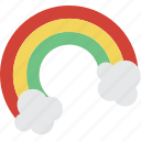 celebration, festivity, gold, holiday, ireland, lucky, rainbow icon