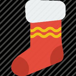 celebration, christmas, festivity, gift, holiday, sock icon