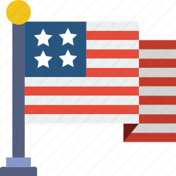 american, celebration, festivity, flag, holiday icon