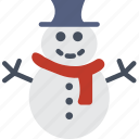 celebration, festivity, holiday, snow, snowman, winter icon