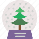 celebration, festivity, globe, holiday, snow, tree, winter icon