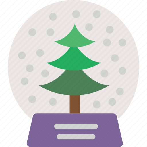 celebration, festivity, globe, holiday, snow, tree, winter icon