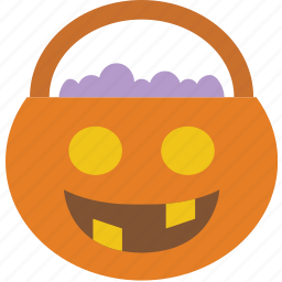 basket, celebration, festivity, halloween, holiday, treat, trick icon
