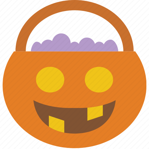 basket, celebration, festivity, halloween, holiday, treat, trick icon