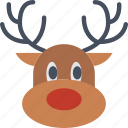 celebration, christmas, festivity, holiday, reindeer, santa, sledge icon