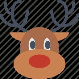 celebration, christmas, festivity, holiday, reindeer, santa, sledge icon