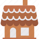 celebration, christmas, festivity, gingerbread, holiday, house, sweet icon