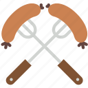 barbeque, celebration, feast, festivity, holiday, sausage icon