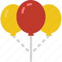 balloons, celebration, festivity, holiday, sky icon