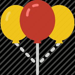balloons, celebration, festivity, holiday, sky icon